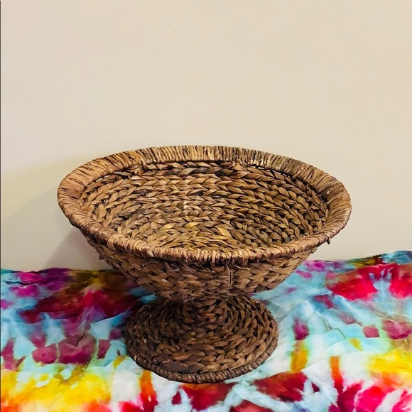 Large Wicker Woven Bowl Stand | Sturdy Table Decor